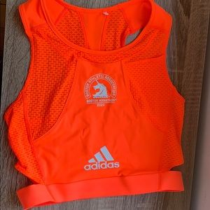 Adidas Boston marathon crop top tank small
